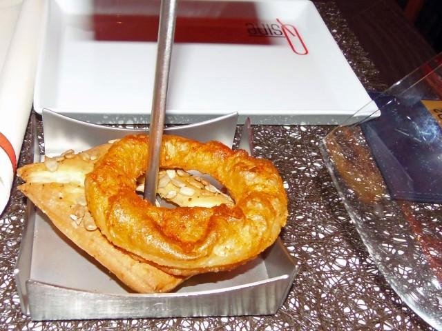 Beignet and Pretzel Doughnut at Qsine