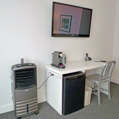 The Burrard - Desk and Flatscreen TV