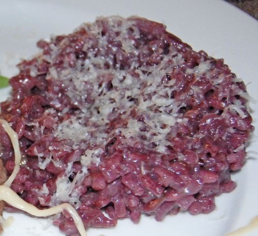 Risotto al Vino Rosso Recipe by Judy Witts-Francini