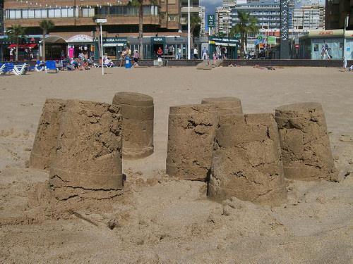 A Family-Friendly Week in Benidorm, Spain.  Sandcastles photo by James Duncan