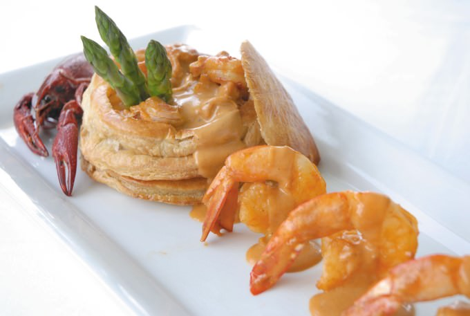 Shrimp and Crawfish Vol-au-Vents with Crawfish Cardinale Sauce at Ralph's on the Park