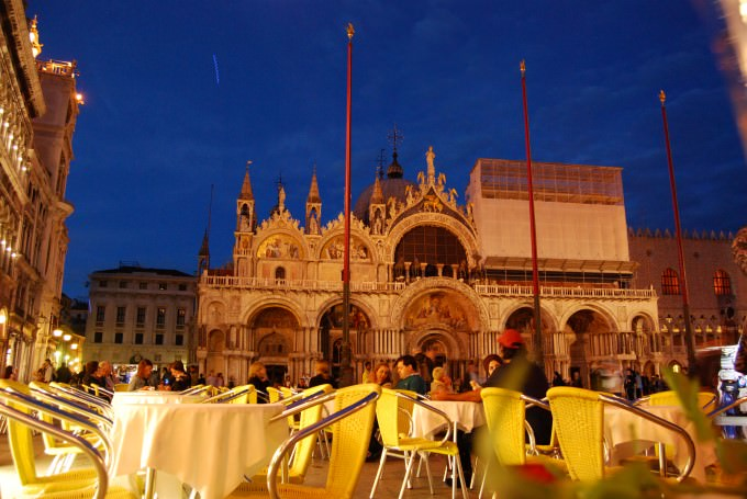 An Evening of Prosecco at a Cafe in St. Mark's Square