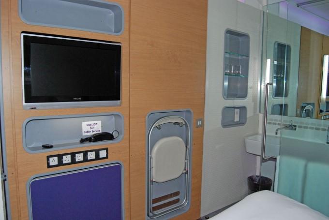 Yotel Premium Cabin - TV, Desk, Folding Chair