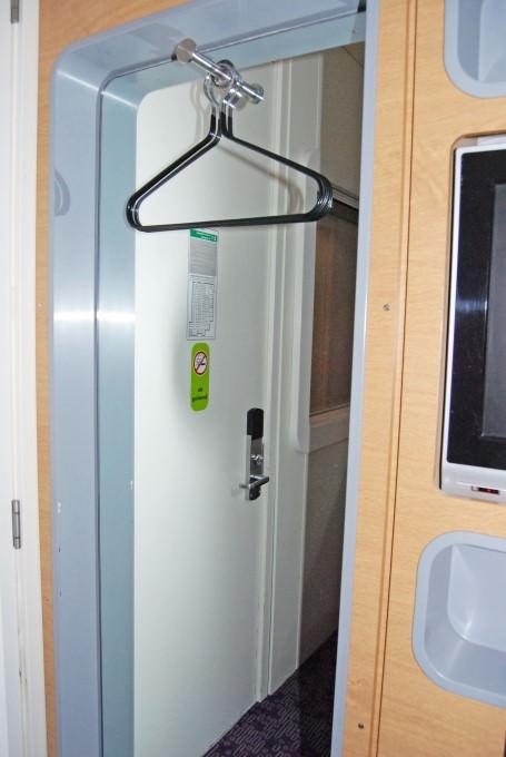 Yotel Schiphol Airport - Coat Hangers in Premium Cabin