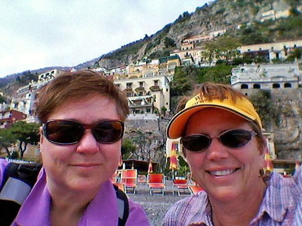 Viv and Jill in Positano