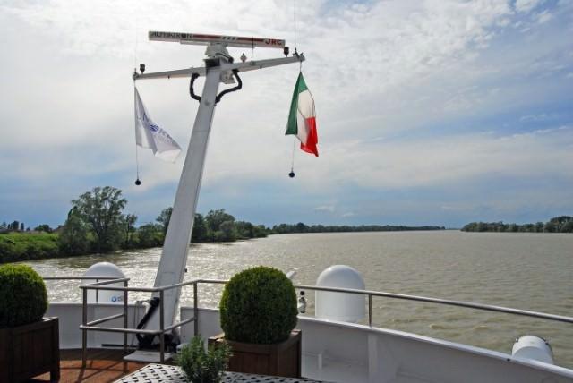 Cruising on the Po River aboard Uniworld River Countess