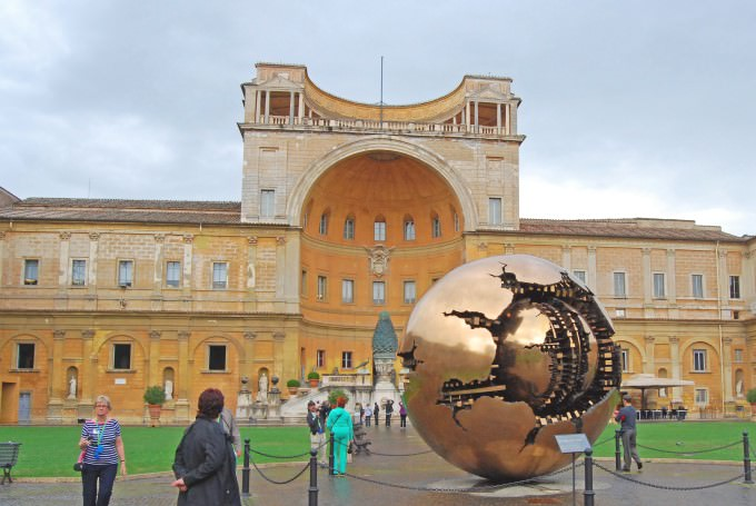 Vatican Museums Courtyard Sphere
