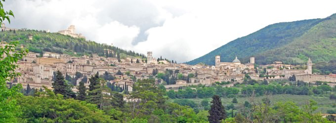 View of Assisi in Umbria