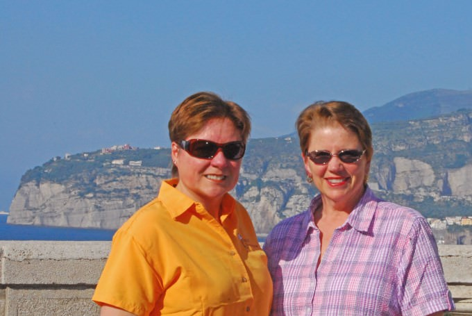 Viv and Jill in Sorrento with Insight Vacations