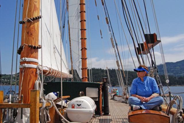 Jill Enjoys Sailing on Schooner Zodiac