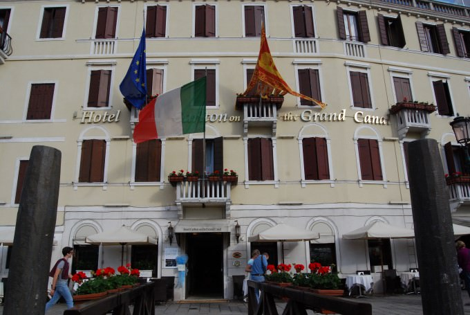 Hotel Carlton on the Grand Canal in Venice, Italy