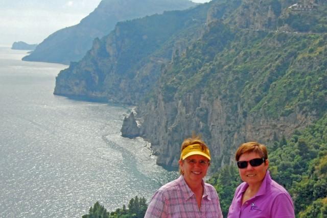 Jill and Viv along the Amalfi Coast