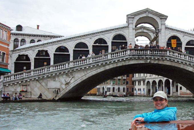 Jill Takes a Water Taxi Ride on the Grand Canal