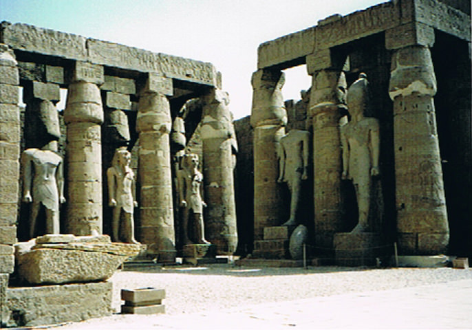 The Luxor Temple was founded around 1400 BC.