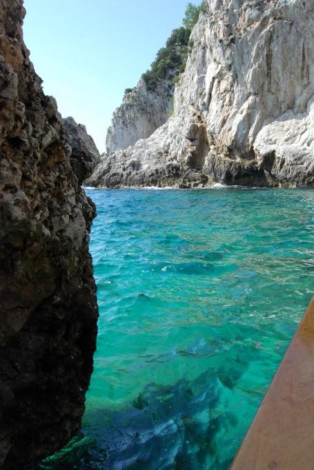 Turquoise water around Capri