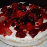 Summer Fruit Sponge Cake at Ristorante I Tre Pini