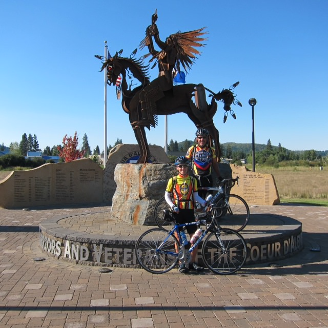 Ethel and Terry DeMarr Bike the Trail of the Coeur d'Alenes in Idaho