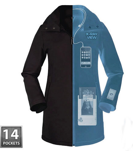 X-Ray View of Scottevest Penny Coat