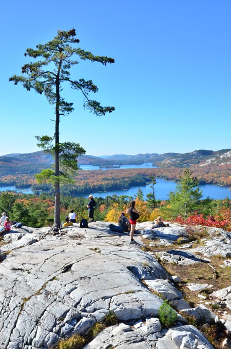 Crack Hiking Trail in Killarney Provincial Park, Ontario, Canada