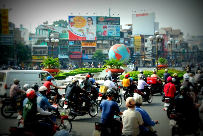 Hectic Ho Chi Minh City Traffic