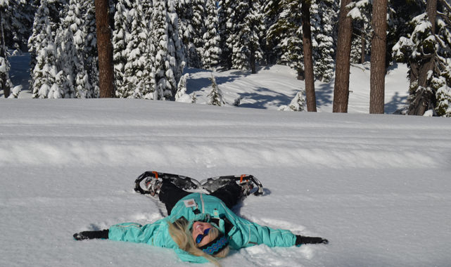 Making snow angels is not just for children