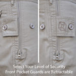 Clothing Arts Business Traveler Pants Front Zippered Pocket