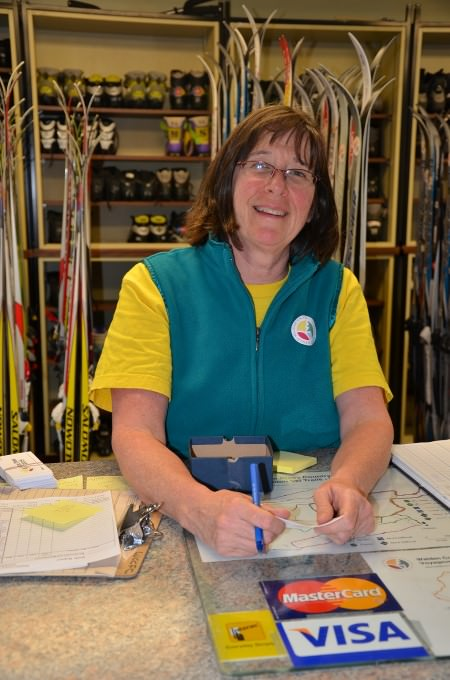 Naughton Trails Chalet Manager and veteran downhill skier Susan Murray