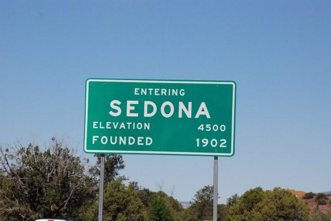 Entering Sedona