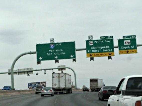Driving through El Paso, Texas