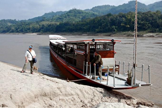 Jill and Luang Say Mekong Cruise Boat