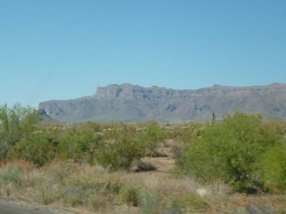 Superstition Mountain at Apache Junction