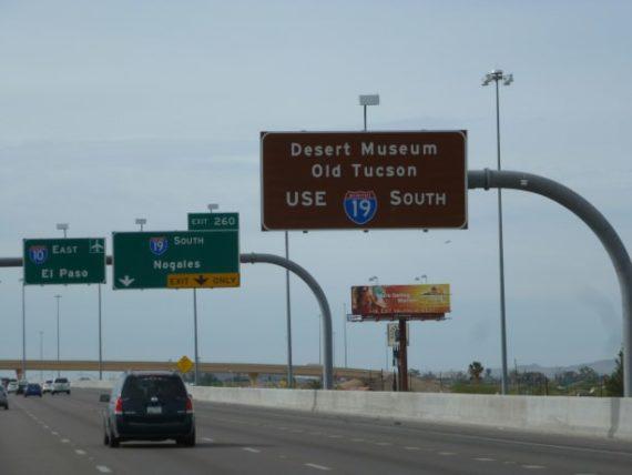 Leaving Tucson in Arizona