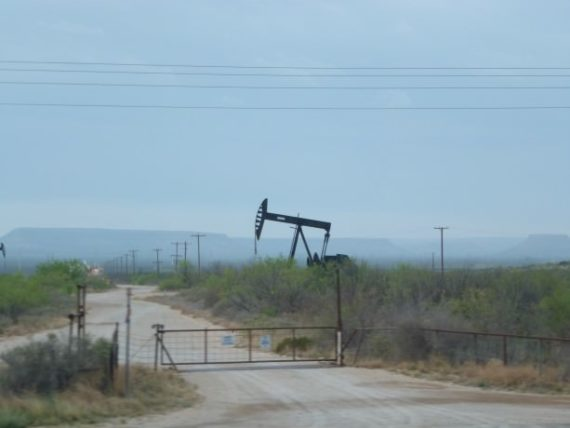 Our first sighting of an oil well in Texas