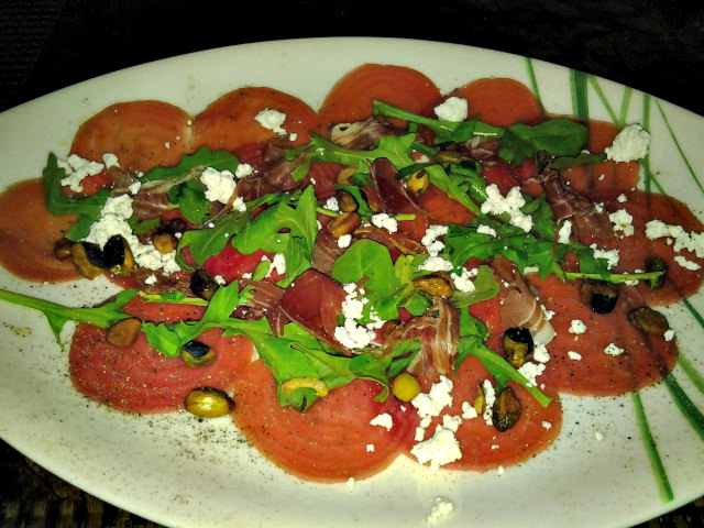 Striped Beet Carpaccio at Bimini Steakhouse