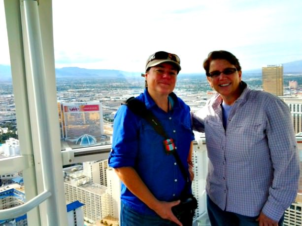 Viv and Jill on the High Roller in Las Vegas