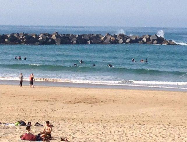The surfer's beach La Zurrolias. Photo by Candice Dodd.
