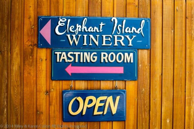 Elephant Island Winery Tasting Room in Naramata, BC, Canada