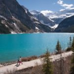 Karen and Riley Explore Lake Louise in Alberta, Canada