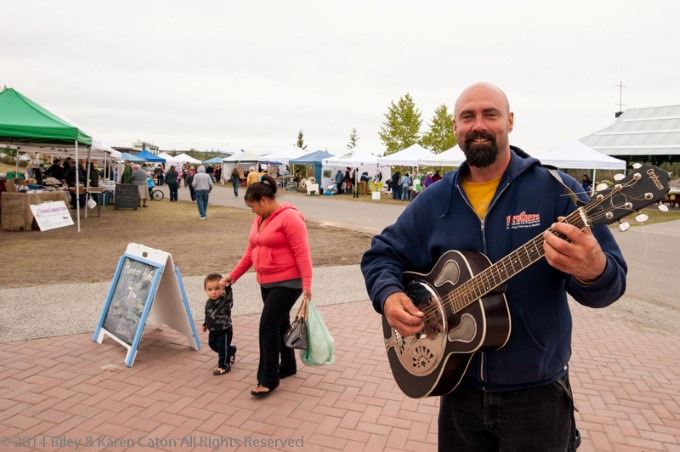 Guitar Player at Saturday Fireweed Community Market