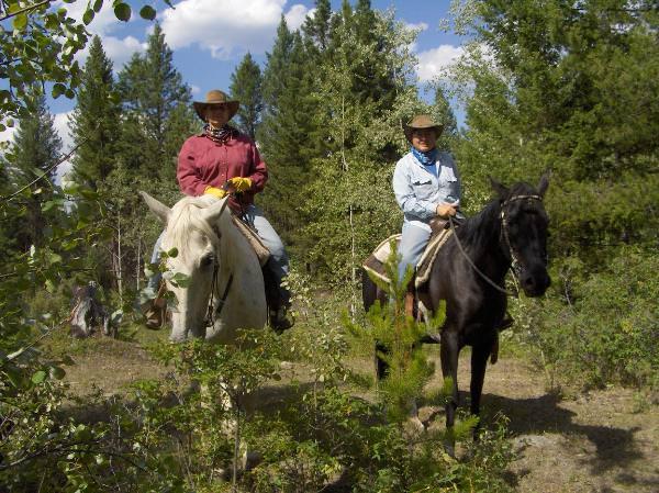 Jill and Viv at Hills Health Ranch in British Columbia
