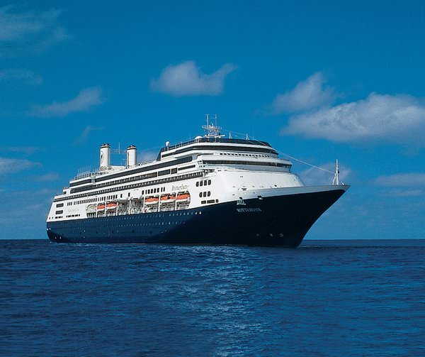 ms Rotterdam at Sea - Photo courtesy of Holland America Line