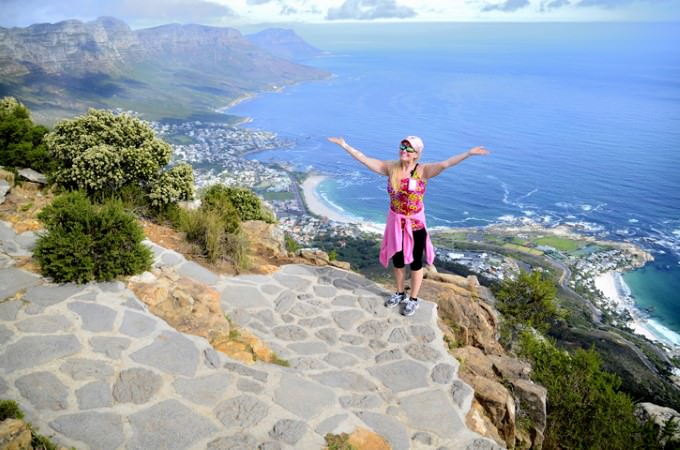 Stunning views of the Atlantic reward those who make the climb up Lion's Head