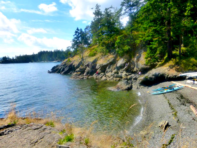 Beach at Doe Bay Resort on Orcas Island