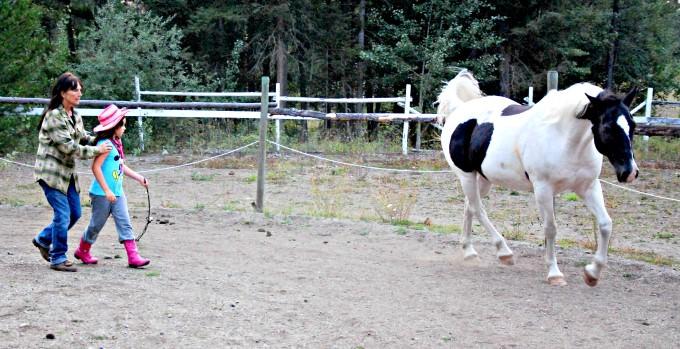 Jada and Sherry the Horse Whisperer