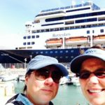 Viv and Jill in Malta with Holland America Line ms Rotterdam