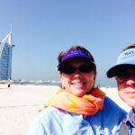 Jill and Viv in Dubai with Holland America Line