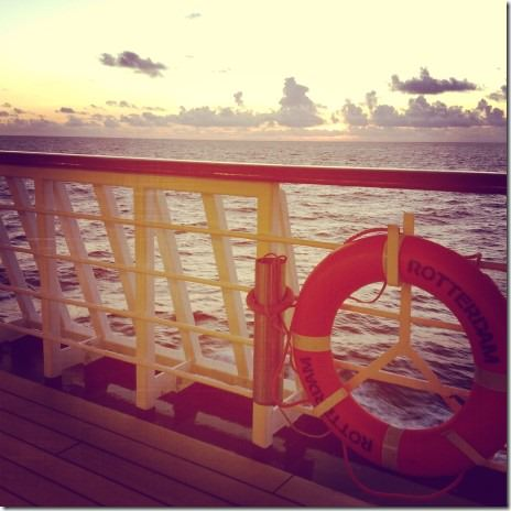 Sunset at Sail Away from Southampton