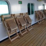 Deck Chairs Secured for High Seas - with Holland America ms Rotterdam