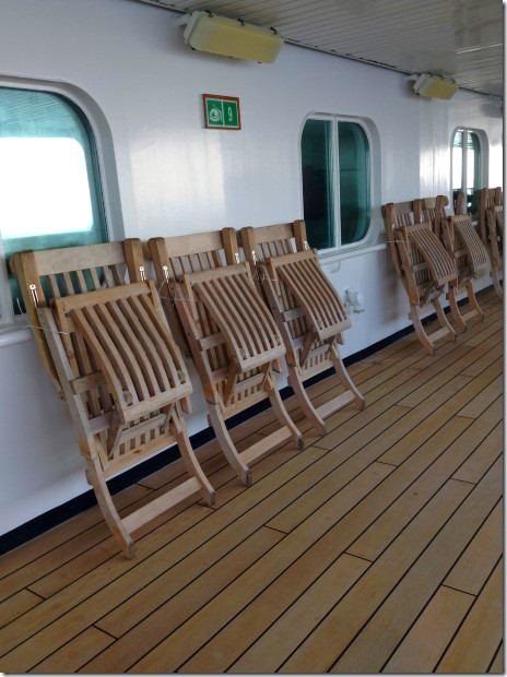 Deck Chairs Secured for High Seas