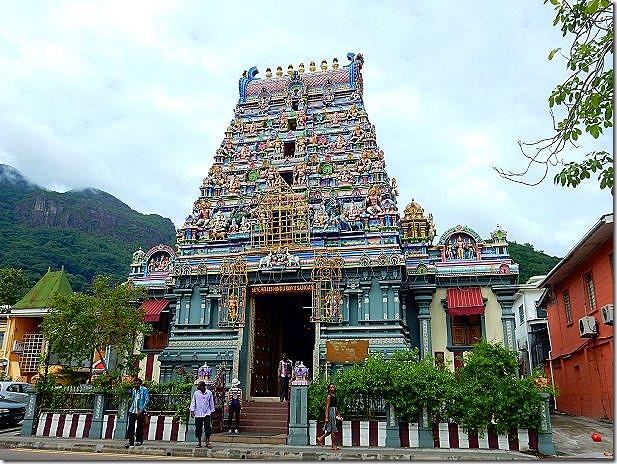 Hindu Temple in Victoria, Seychelles